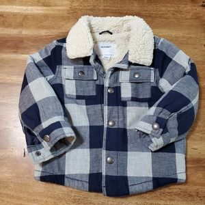 Toddler plaid shirt jacket